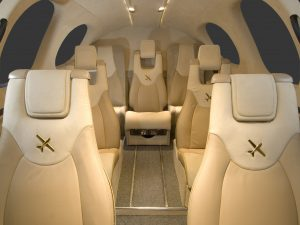 Comfortable Jet Cabin - Jet Sales - Miami Jet Sales - Leather Interior Jet Cabin